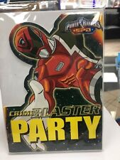 Power Rangers SPD party invites with envelop 8