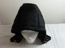 Women's Black Nylon Removable  Hood