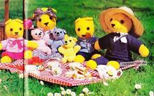 TEDDY BEARS PICNIC - 8ply or DK - COPY toy knitting & crochet pattern