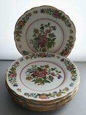 ART DECO AYNSLEY BONE CHINA HAND FINISHED 6 x 17cm TEA PLATES
