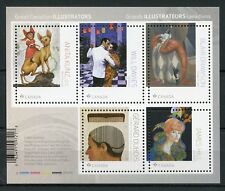 Canada 2018 MNH Great Illustrators Anita Kunz Dubois 5v M/S Art Design Stamps