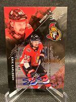 2017-18 SPx Autographs 28/49 Erik Karlsson - Ottawa Senators, San Jose Sharks