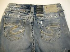 "Silver Jeans ""PICA"" Slim Bootcut sz 25 Silver Paint"