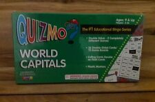 QUIZMO World Capitals Bingo, Flash Cards 2 in 1 Education Game for 2-36 Players