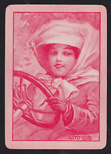 1 Single ANTIQUE Playing/Swap Card US WIDE Mono Lady Driver 'AUTO GIRL AU-1-1'