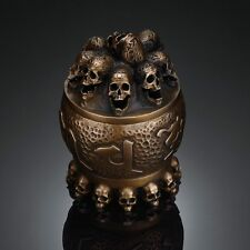 Bronze kapala Human Skull Incense Burner Censer Limited edition Handmade