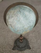 "1878 J Schedler Antique Terrestrial Globe 9"" New Jersey for 1867 Paris Expo"