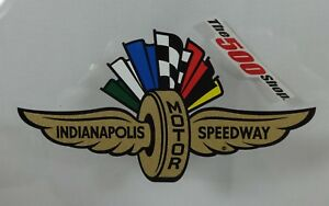 Indianapolis Motor Speedway Gold Wings Wheel Flags Decal Peel & Stick Indy 500