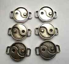 10pcs Tibetan silver Yin and Yang charms connector  28x21 mm