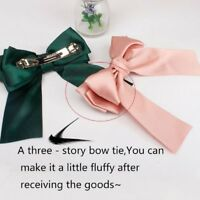 Women Bowknot Cute Hair Ties Bow Clip Hair Band Women Girls Hair Accessories 1Pc