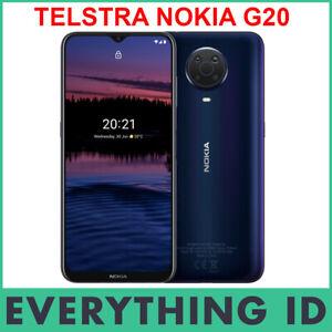 TELSTRA NOKIA G20 4G 4GX DUAL SIM 6.52″ SCREEN 64GB BLUE ANDROID MOBILE PHONE