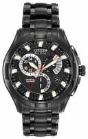 NEW Citizen Eco-Drive Men's BL8097-52E Calibre 8700 Perpetual Black Ion Watch