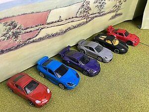Hot wheels job lot exotic sports cars x 6 different Porsche models