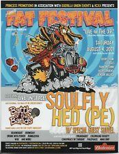 Original 2001 2Nd Annual Fat Festival Cypress Hill Soulfly Head (Pe) Handbill