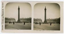 Stereo, France, Paris, la colonne Vendôme Vintage stereo card -  Tirage argent