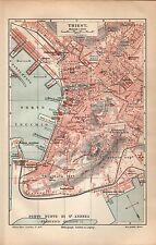 Triest Trieste Trst Italien Borgo Teresiano Molo Audace Stadtplan 1909
