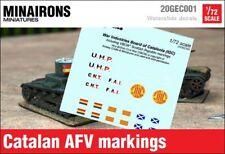 Minairons 1:72 SCW Catalan AFV markings - 20mm Spanish Civil War, VBCW
