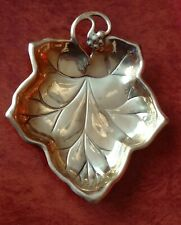Golden Metal Leaf Shaped dish, ashtray, bowl, trinket dish Pwf label Hong Kong
