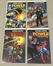 MALIBU COMICS POWER AND GLORY #1-4 1 2 3 4 COMPLETE MINI SERIES B COVER SET