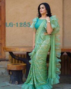 New Festival Indian Pakistani Heavy Bollywood Sari Designer Party Wedding Saree