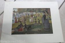 LA GRANDE JATTE Seurat Il foglio inclusi i margini misura 44 x 34 cm Arte Storia