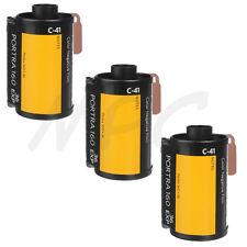 3 Rolls Kodak Portra 160 - 135-36 Pro Color Negative Film (ISO-160) FRESH DATED