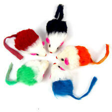 5Pcs False Mouse Pet Cat Puppy Toy Chasing Playing Scratch Toys