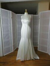 Justin Alexander wedding dress ivory/silv/nude size 10 back adorned beading