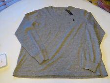 Polo Ralph Lauren Mens long sleeve T shirt  XL Dark Vintage grey hth 565004 logo