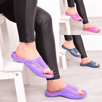 Ladies Womens Summer Slip On Holiday Beach Mules Flat Flip Flops Shoes Sandal SZ