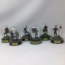 Franklin Mint - Tfm - Civil War Glass Domed Figurines
