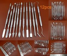 12pcs Wax Pattern Leather Craft Modeling Engraving Carving Cutter Knife Tool Set