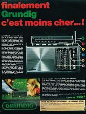 H- Publicité Advertising 1970 Le Transistor Satellit de Grundig