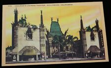 Postcard Grauman's Chinese Theatre 1930s Hollywood Handprints Courtyard Premiere