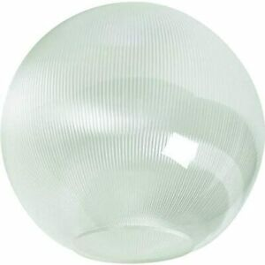 """KastLite 16"""" Clear Prismatic Acrylic Lamp Post Globe with 5.25"""" Neckless Opening"""