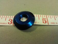 STANDARD 15/32 INCH BLUE ALUMINUM MARINE BOAT TOGGLE SWITCH NUT/BEZEL (SET OF 4)