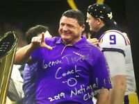 Ed Orgeron Autographed Signed 8x10 Photo ( LSU Tigers ) REPRINT
