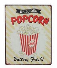 Vintage Schild Delicious Popcorn Buttery Fresh Nostalgie Wandschild Blechschild