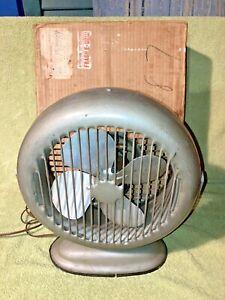 Mid Century Modern Desk Fan w/Box (Sold through GIMBEL BROS.) W-Liberty-10