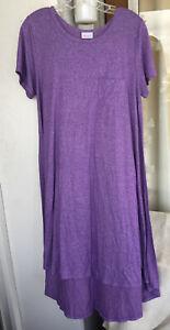 "Fashion Dress | XL Large | Purple ""LulaRoe"" High-Low Midi Floral Dress"