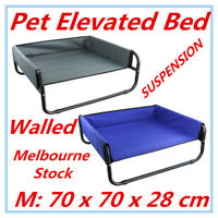 Bed Elevated Pet Dog Cot Outdoor Indoor Large Raised Frame Steel Walled 70 cm A