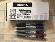 Zebra Clip-on multi pen (4 color + 1 mech) transparent barrel #B4SA1-C x 10 pens