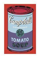 Andy Warhol Campbell's Soup Can blue & purple Poster Bild Kunstdruck 36x28cm