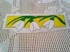 Window Color Bild Schneeglöckchen Bordüre Deko Frühling Ostern