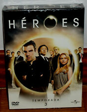 Heroes 3ª Season Complete 6 Discs DVD New Sealed Series (Sleeveless Open) R2