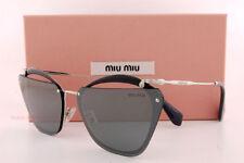 MIU 54t/s 54ts 64 Kjw7w1 Sunglasses Black Grey Silver Lenses Sole Woman