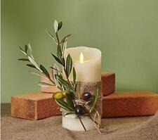 "LUMINARA LED WEDDING CANDLE - Wax Flameless Realistic Flicker 5""(13cm) Vanilla"