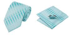 Blue Novelty 100% Silk Classic Mens Necktie Tie Hanky Cufflink Set NT155