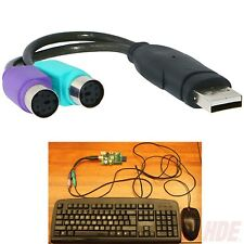 New USB to Dual PS/2 PS2 Adapter Converter Cable Cord for Mouse and Keyboard