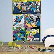 Superman papel pintado pared mural 232cm X 158cm 1wall DC Comics